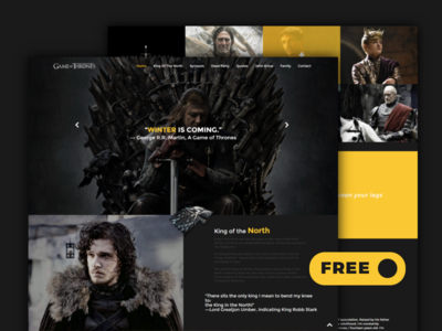 Game of Thrones - Redesign and Free Responsive HTML Template