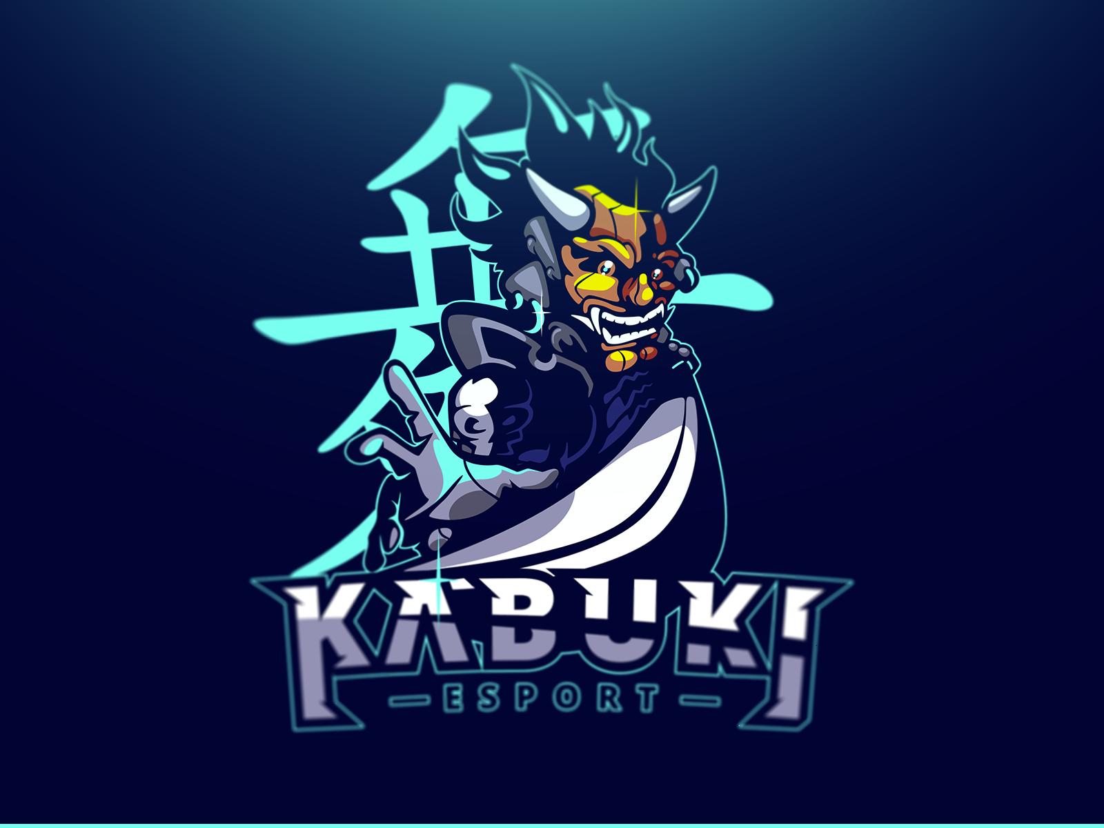 kabuki sport ninja logo character