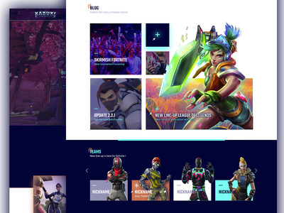 Landing page // Kabuki Esport