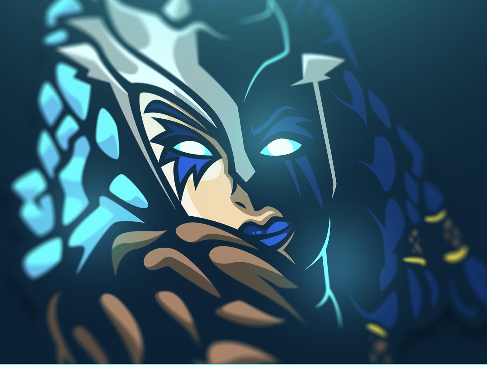 Valkyrie Fortnite Mascot game esport gaming logo laureaux didier illustration mascot valkyrie