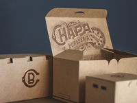 Packaging for a burger place