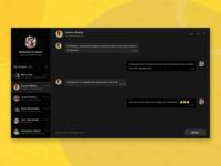 Web Chat - Dark Theme dark app minimal design minimalism user interface design web app dark theme dark mode dark ui app design chatting chat app darktheme user experience app application design ux ui