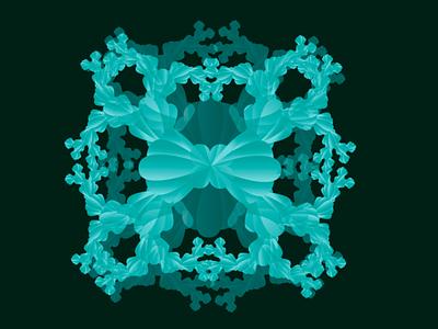 Fractal- kaleidoscope blue green worker designs design art art beauty kaleidoscope fractals fractal illustrator graphicdesign design flat minimal illustration