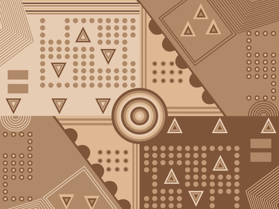 Geometric Design shape browns brown geometrical geometric design challenge weekly challenge weeklywarmup weekly warm-up