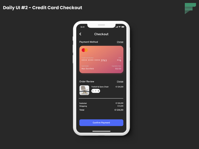Daily UI #2 - Credit Card Checkout daily 100 challenge mobile ui ui design uidesign uiux ui credit card checkout mobile app design dailyuichallenge dailyui 002 dailyui