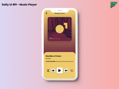Daily UI #9 - Music Player figmadesign gradients dailyui challenge music player daily figma design dailyui ui daily 100 challenge ui ux mobile ui daily ui daily ui 009 dailyui 009 dailyuichallenge uiux ui design