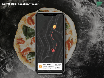 Daily UI #020 - Location Tracker pizza location tracker dailyui challenge mobile app design ui ux mobile ui figma ui design uiux daily 100 challenge dailyuichallenge daily ui daily ui 020 dailyui 020 dailyui