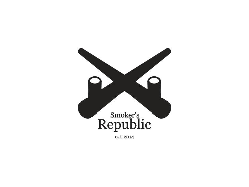 Smoker's Republic logo mark brand identity graphic design logo
