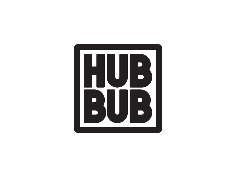 Hub Bub logo logotype mark brand identity graphic design logo