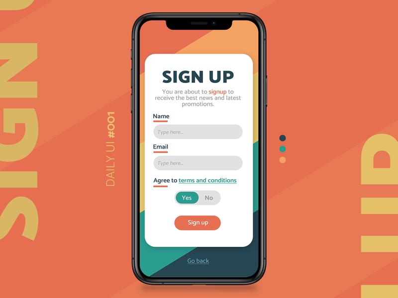 Daily UI Challenge #001 signupform form online signup interface web design dailyui dailyuichallenge dailyui 001