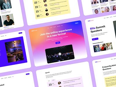 Billo Summit - UI Map ui design vivid motion gradient web design ui map graphic design event site ecommerce livestream saas livestream uiux design
