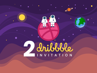 Two Dribbble Invite Giveaway