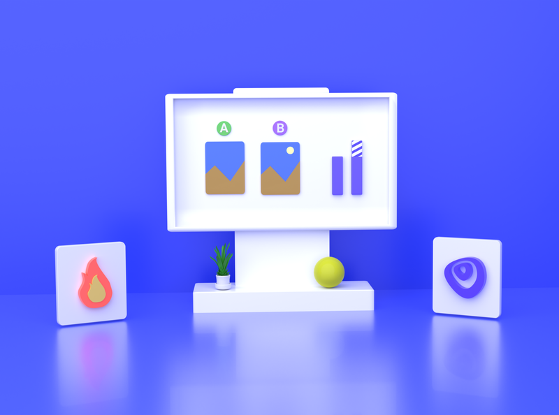 Experimenting on 3D Space - VisualEyes branding logo abstract bars heatmap visualeyes 3d blender 3d art
