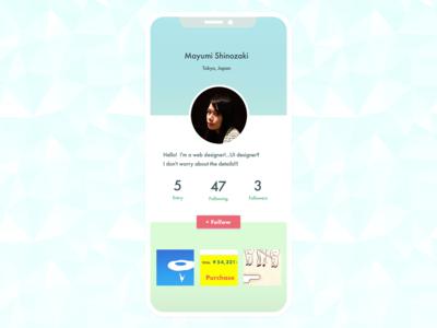DailyUI 006 - User Profile
