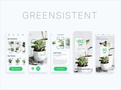 DCC 8-Calendar Garden app ui ux green by yulincho