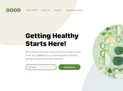 DCC 6 Healthy food land page