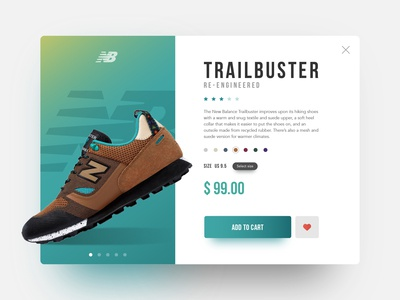 Sneakers product detail page