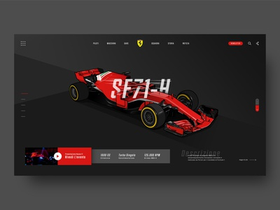 Scuderia Ferrari Web Header
