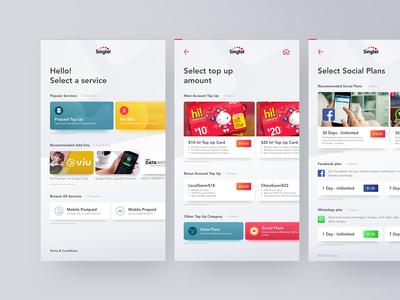 Singtel Self-Service Kiosk UI Exploration