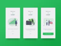 LandX Mobile App Intro Screen