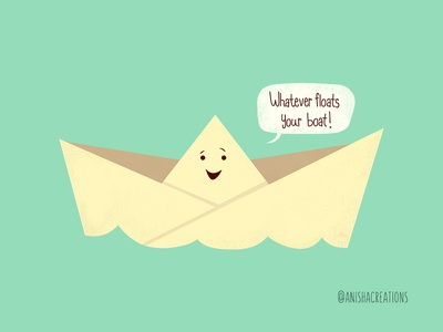 Happy Boat wednesday art geek graphic character cute art illustration whatever boat happy motivation life cartoons design quotes funny puns cute