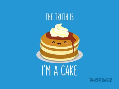 The Truth about Pancakes cute illustration geek pancake dessert humor cute art breakfast pancakes foodie illustration cartoons design kawaii funny puns cake food art cute