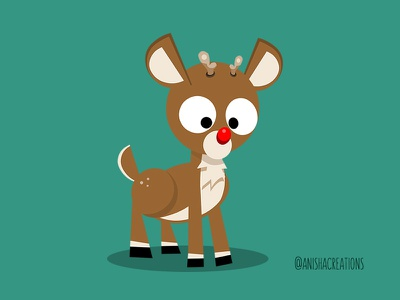 Magical Reindeer flat design vector animals illustrated holidays rudolph magic xmas christmas reindeer deer animals character kawaii design cartoons illustration cute