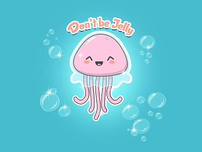 So Jelly ... memes humor jealous jellyfish puns character kawaii design cartoons illustration funny cute