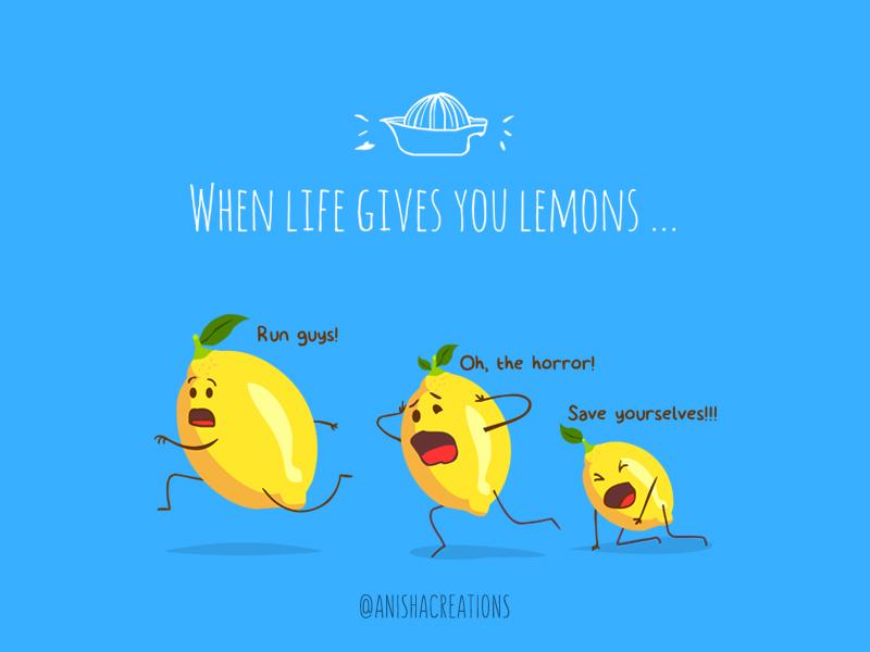 LemonAID doodles lol motivation comic humor lemons food vector graphic character puns illustration design cartoons cute art funny cute