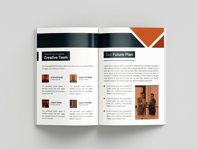 8 Page Bi-fold Brochure Template Design
