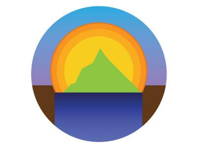 Sunrise design branding logo mark