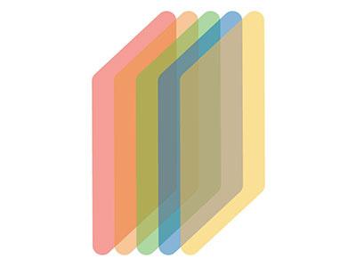 Rainbow Brite design branding logo mark