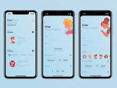 ComPaixão: Diário de Oração ux apple design ios mobile apple icon ui logo illustration app animation design