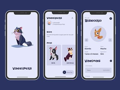 VacciPets: A Carteirinha de Vacinação Virtual apple design branding ios design animation ux ui apple app design mobile app vaccine pets
