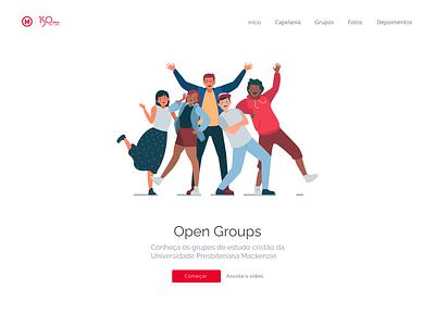 Open Groups - Because we're family together people education mackenzie minimalist webdesign web animation illustration branding ux ui design
