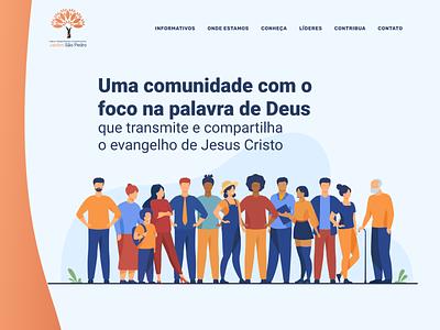 IPC Jardim São Pedro flat icon logo illustration church logo church marketing minimalist web ux design ui church branding church design church