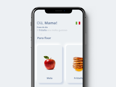Mamamia | Use augmented reality to learn Italian! ui typography mobile ux design mobile ui mobile design mobile apps mobile app development mobile app design mobile app mobile minimal ios app design design branding animation android app design