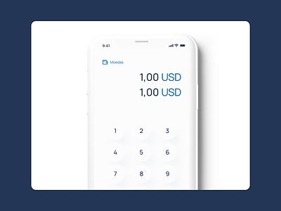 Currency Converter apple design apple ui app design mobile branding app animation ux design
