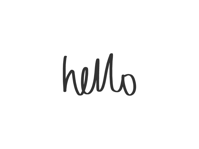Hand lettering hello by catherine grace dribbble