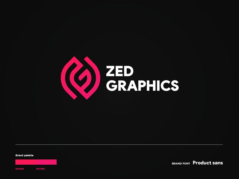 Zed Graphics logodesign logotypes 2020 logodesigner illustration modern logo icon logotype logo identity gradient branding clean minimal design