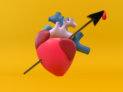 corazón illustration corona renderer corona render cinema4d c4d 3d artist 3d art 3d