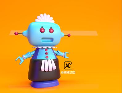 ROBOTINA!!!! ilustración 3d render design corona renderer illustration 3d artist corona render c4d cinema4d 3d