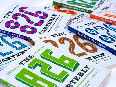 The 826 Quarterly book cover typography lettering design