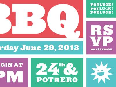 BBQ typography hfj ziggurat leviathan saracen sun summer invitation