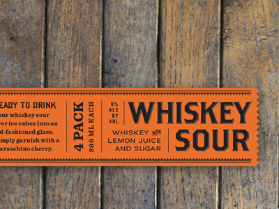 Whiskey Sour whiskey bourbon packaging sour orange wood box typography label