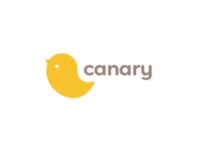 Canary 2 canary logo branding typography birdie cute baby