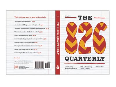 826! 826 handdrawn quarterly typography book red orange grid notebook doodle