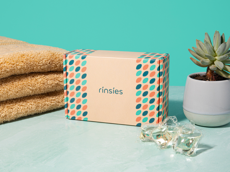 Rinsies Packaging Design branding pattern design packaging design