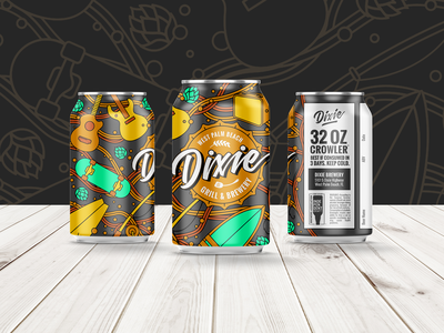 Dixie Brewery Beer Can Crowlers