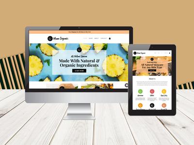 Momo Organics Branding + Website